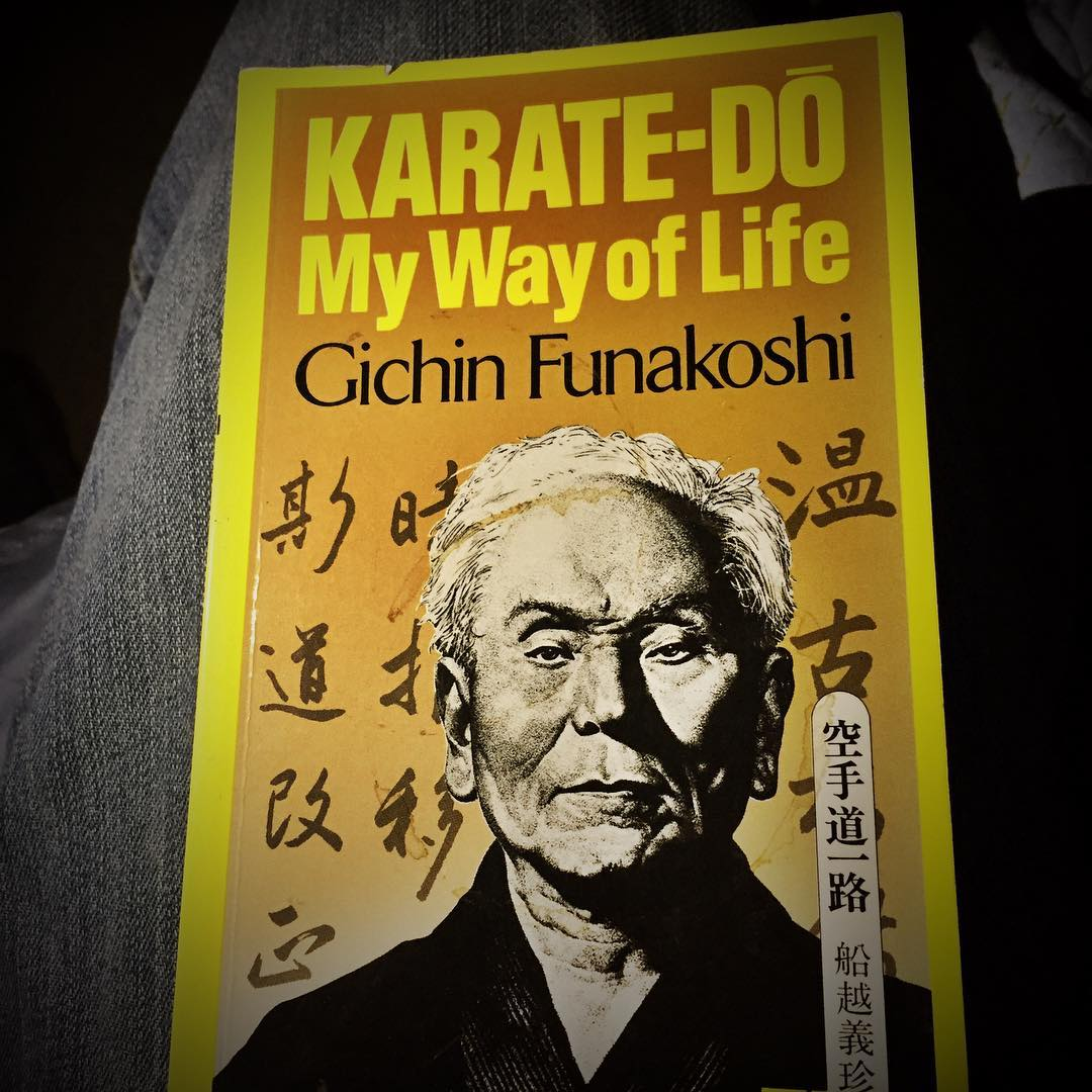 Day 13 of #30daysofkarate  Some more #kata today and then I sat down with a favorite #book. @karateculture @ando_mierzwa #karate #kobudo #martialarts #reading #gichinfunakoshi #budo #meditation #history Naperville, Illinois
