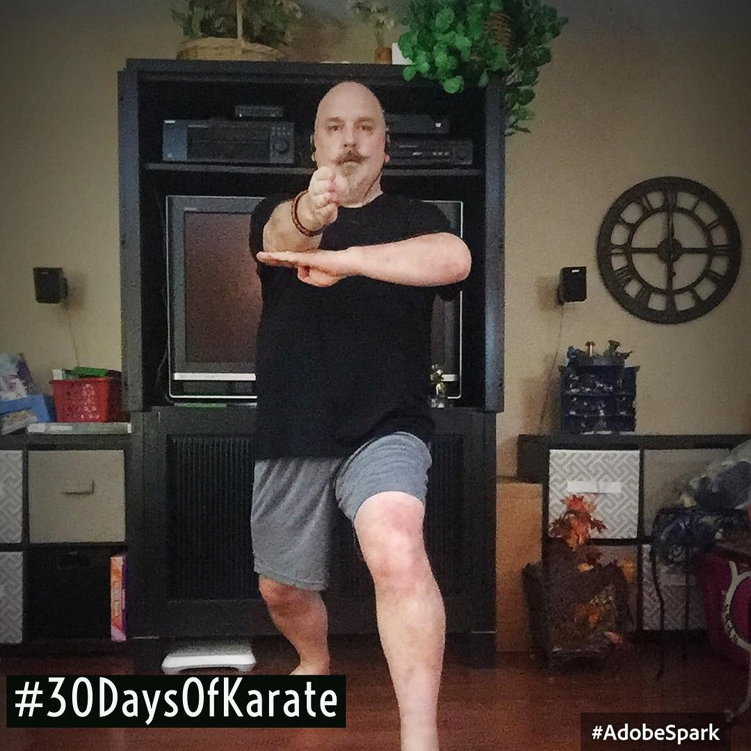 Day 23 of #30daysofkarate – went totally back to #kihon, spending the entire hour practicing the blocks of the #goju #shorei system. Until you practice the same block 100 times slowly, you don't realize which muscles still need to be developed! 😳 #karate #martialarts #training #dojo #innerstrength #innerpeace @karateculture @ando_mierzwa Naperville, Illinois