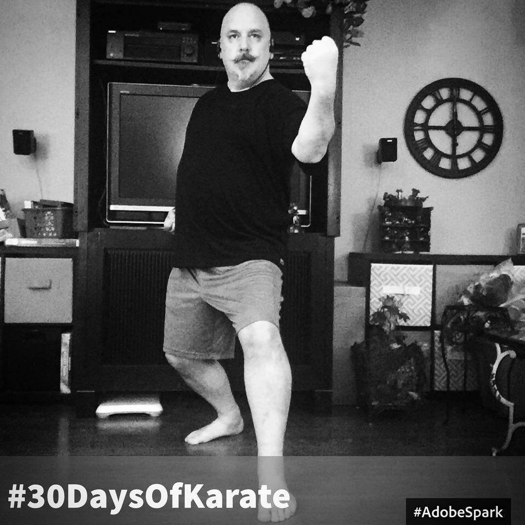 Day 27 of #30daysofkarate  An intense session of #visualization and #meditation  Can't believe this #training #exercise is almost complete! Then stage two begins… #karate #martialarts #goju #shorei #innerpeace #innerstrength #dojo #kihon #kata @ando_mierzwa @karateculture Naperville, Illinois