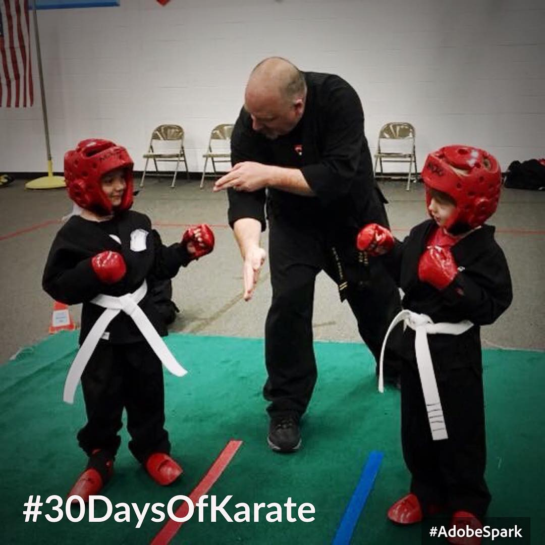 Day 29… sheesh, DAY 29!?!? Of #30daysofkarate  Is tomorrow really the last day of this challenge? Today was a lot of fun (and a lot of work) – our school had a tournament for all of our locations. Here I'm the center #judge for one of our young #whitebelt divisions. So proud of our little #karateka and seeing them just start their #karate journey. One of my best friends and I also did a #kobudo demonstration with the #bo  #martialarts #budo #bushido #kihon #sparring #kumite @ando_mierzwa @karateculture Naperville, Illinois