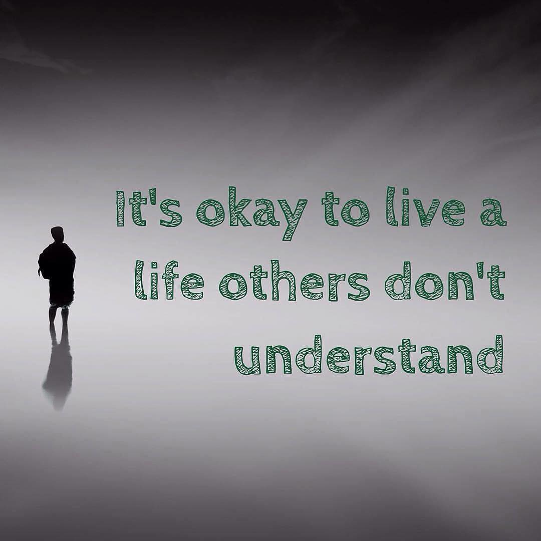 "One last recycled #meme for today. ""It's okay to live a #life that others don't #understand"". How I try to vie my life. #karate #martialarts #meditation #bushido #isshin #dotai #kobudo #meaning"