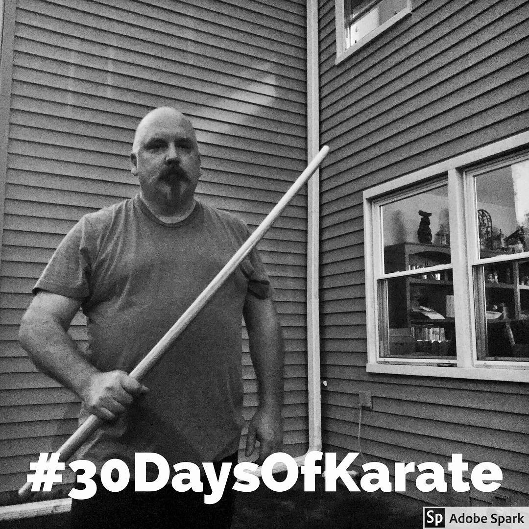 #30daysofkarate day three. Today saw #meditation #kobudo and some #stretching. Feeling my good, starting to get back into the groove. Spent time with my #bokken and my beloved #tonfa. #karate #martialarts #seisa #meditate #mindfulness #training #budo #outdoordojo @erickastengren @mish.mash.do @karateculture @ando_mierzwa @jeremylesniak