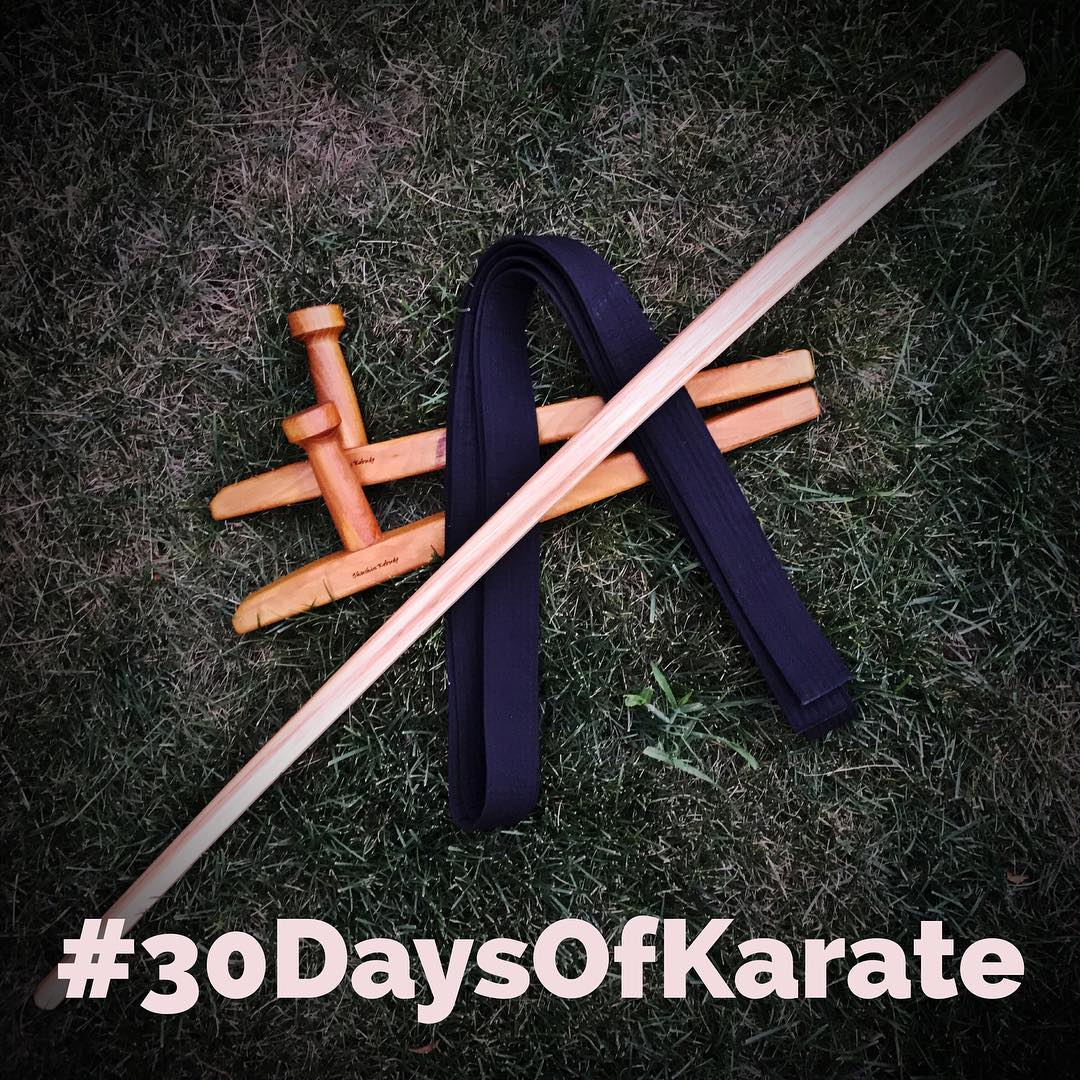 Another shot from Day 3 of the #30daysofkarate – i did something new for the first time- I wore my gi and #blackbelt  The belt's purpose was to be a reminder to #focus and #practice at that level and not to take it easy. A white belt's mind and a black belt's #dedication. #karate #martialarts #kobudo #tonfa #bokken #kingfisherwoodworks #seishinkobudo