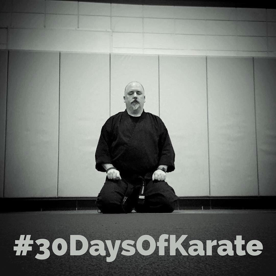 Yesterday was day 15 of#30daysofkarate … AND I FORGOT TO POST! Halfway point and I have to say that this time has been more challenging. From finding time to remaining focused, this has been tougher. But it's also been rewarding for the same reason. #karate #meditation #budo #bushido #strength #martialarts #determination #focus @ando_mierzwa @karateculture @jay_the_sensational @jeremylesniak @mish.mash.do @erickastengren