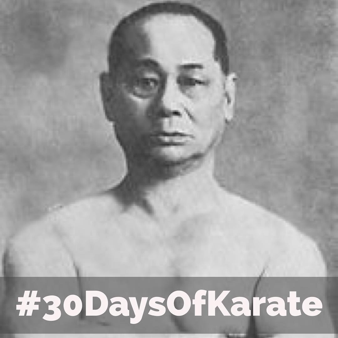 "About a month ago, I completed some #historical #research and traced the #lineage of my school and #sensei back all the way to #Ankō #Itosu (1831-1915). Today's session for the #30daysofkarate is an homage to #ChokiMotobu (1870-1944). Among his writings is this nugget, ""the #blocking hand must be able to become the #attacking hand in an instant. Blocking with one hand and then countering with the other is not true #bujutsu."" So today my #practice is to block and then immediately counter strike with the same hand. #karate #budo #bushido #history #strength #meditation #honormyhistory @erickastengren @mish.mash.do @jeremylesniak @jay_the_sensational @karateculture @ando_mierzwa"