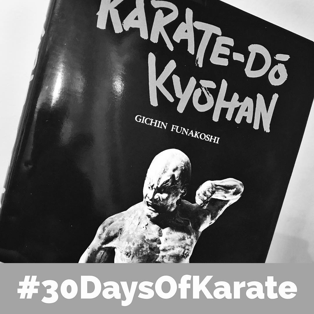 After working out outside yesterday in 95 degree heat and bashing my elbow with my #nunchaku, I decided today's #30daysofkarate would be a break from the physical #training and dove into #funakoshi and #karatedokyohan for day 23. Great idea, @mish.mash.do ! #karate #reading #karatenerd #martialarts @karateculture @ando_mierzwa @jay_the_sensational @erickastengren