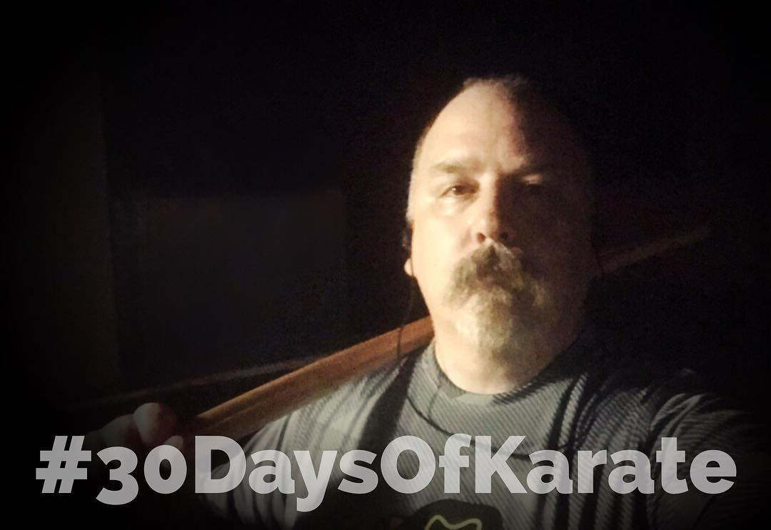 An amazing night of #karate and #kobudo under the stars tonight. 73 degrees, no wind, no clouds… I've learned a lot from this session in terms of karate and my own strengths and weaknesses. Tonight, and until the end of the #30daysofkarate I'm trying to put it all together so that everything I've practiced or read or watched can be related to each other. Tonight I spent 45 minutes with my #tonfa and #bokken, but #focused on not only how the movements relate to empty hand movements but how the #kobudo movements can be done according to Choki Motobu Sensei's tenet that the blocking hand should be able to immediately become the striking hand. Interesting to try that with tonfa! Now to walk the dogs one more time and then back outside for #starlight #meditation since who knows how much longer this weather will be around. And that concludes Day 25 of 30 Days of Karate. #martialarts #bushido #budo #outdoordojo #training #innerstrength #innerpeace #mindfulness @mish.mash.do @erickastengren @jeremylesniak @jay_the_sensational @ando_mierzwa @karateculture