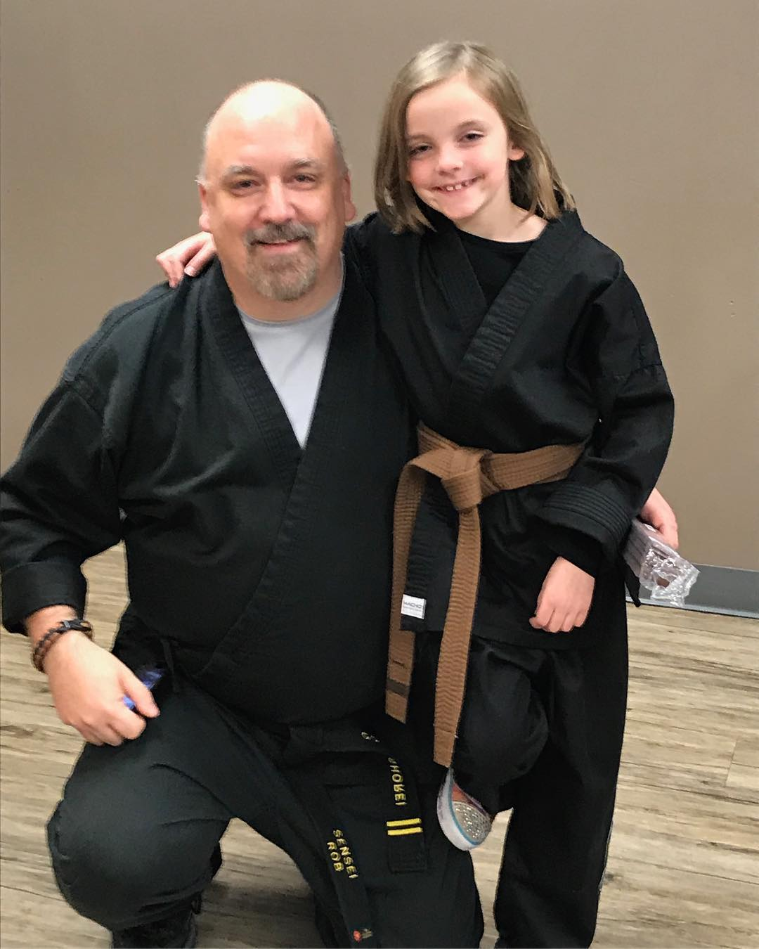 Yeah, I'm bragging… first #Kym tonight for my daughter. #prouddad #martialarts #karate #bushido #gojushorei #brownbelt #daddydaughter #kidskarate #love