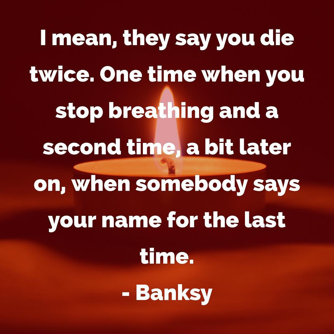 """I mean, they say you die twice. One time when you stop breathing and a second time, a bit later on, when somebody says your name for the last time"" – I came across this quote earlier today and it struck me as being relevant to another discussion I was having about #legacy and what it means to live on, if only by name, in the lineage charts of our #students who come after us. I read once that most of us are remembered for only three generations. But, by adding our names to the lineage of our students, we become as much a part of history of #karate as #Itosu, #Funakoshi, #Motobu and, perhaps, avoid the second death. #martialarts #meditation #history #budo #bushido #warrior #strength #mindfulness #innerstrength #innerpeace #mokuso"